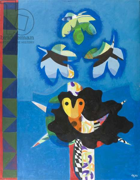 Bird Woman Landscape (acrylic on canvas)