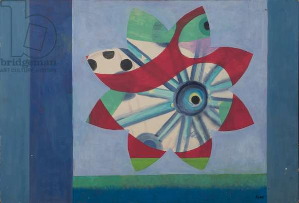 Shellflower, 1968 (acrylic on canvas)