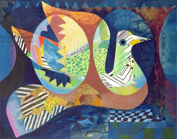 The Bird's Nest, 1969 (acrylic on canvas)