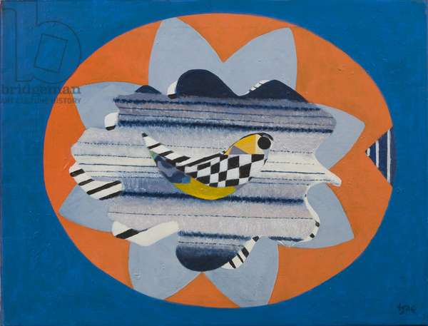 Flying Leaf, 1980 (acrylic on canvas)