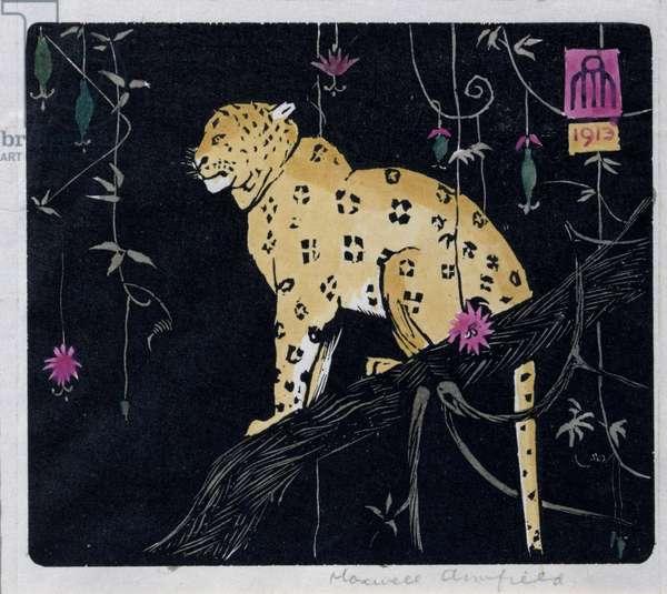 Leopard, 1913 (woodcut)