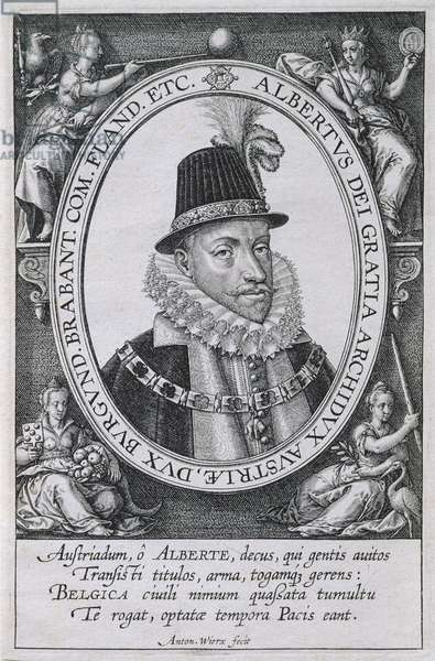 Portrait of Albert, Archduke of Austria (1559-1621) (engraving)