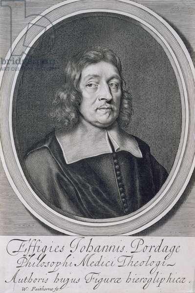 Portrait of John Pordage (1608-98) (engraving)
