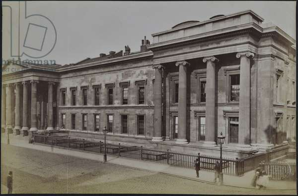 The front elevation of the British Museum, seen from the east, 1875-95 (b/w photo)