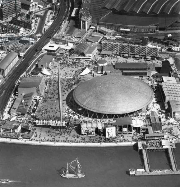 Festival of Britain, Festival of Britain, London, UK, 1951 (b/w photo)