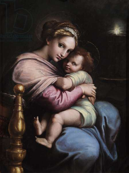 The Virgin and Child, early 17th (oil on panel)