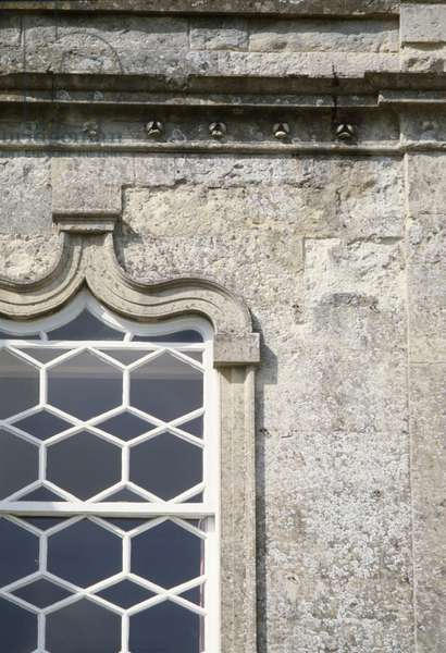 Detail of part of an ogee arched window (photo)