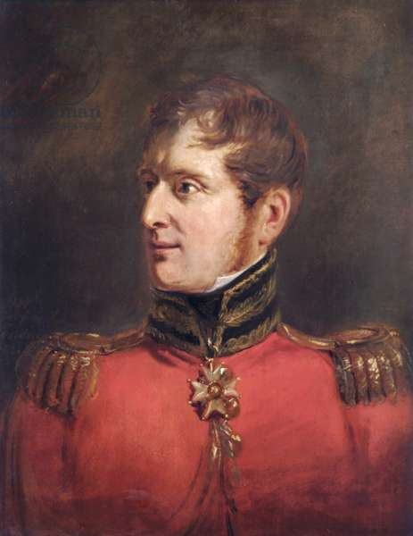Field Marshal Lord Fitzroy James Henry Somerset, 1st Baron Raglan G.C.B., 1821 (oil on paper on canvas)