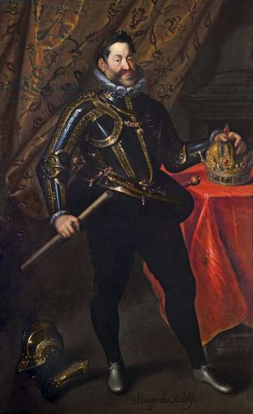 The Emperor Rudolph II, (oil on canvas)