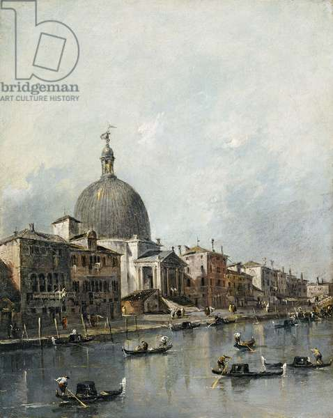 The Church of San Simeone Piccolo on the Grand Canal, Venice (oil on canvas)