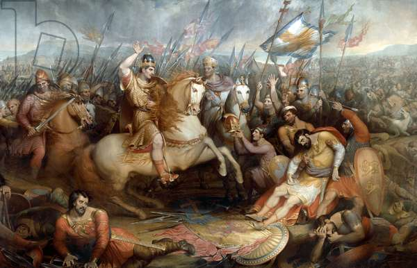 The Battle of Hastings, 1820 (oil on canvas)
