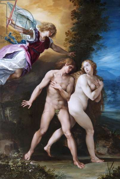 The Expulsion from Paradise, c.1600-40 (oil on copper)