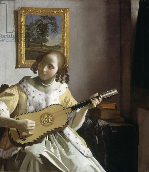 The Guitar Player (oil on canvas)