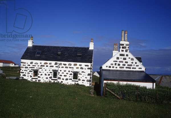Traditional stone cottages, Scarinish (photo)