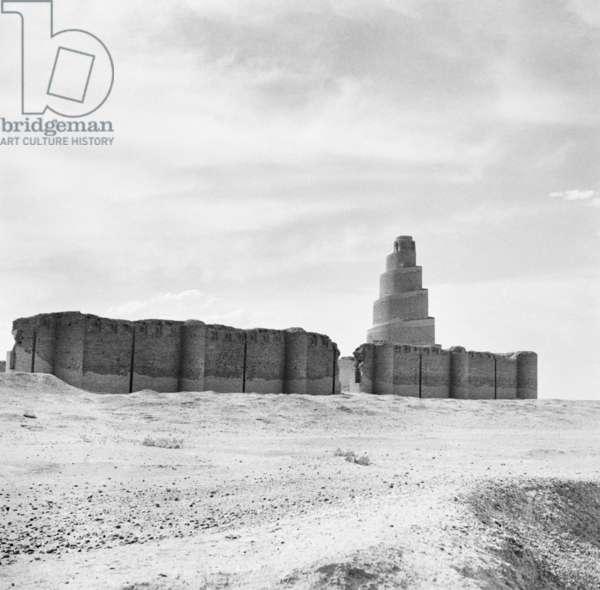 Samarra, Iraq (b/w photo)