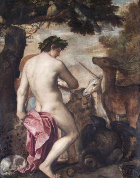 Orpheus Enchanting The Animals (oil on canvas)