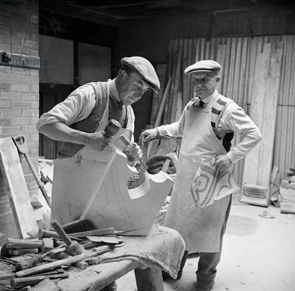 Masons, Halesworth, Suffolk, 1949 (b/w photo)