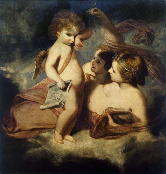 Venus Chiding Cupid for Learning to Cast Accounts, 1771 (oil on canvas)