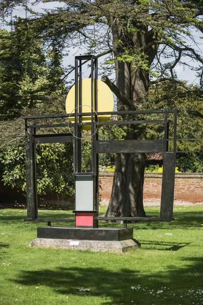 Construction (Crucifixion) (1966) by Barbara Hepworth, Winchester Cathedral, Dome Alley, Winchester, Hampshire, UK (photo)