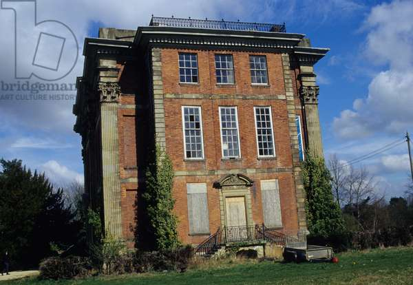 Exterior of Cound Hall, designed by John Prince from Shrewsbury in 1703-04 for Edward Cressett (photo)