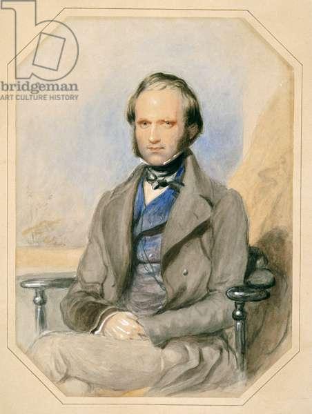 Charles Darwin (w/c on paper)