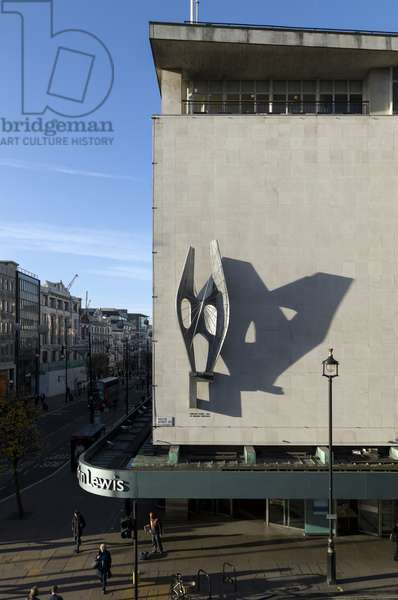 Winged Figure by Barbara Hepworth, John Lewis Departmant Store, Oxford Street, Marylebone, Greater London, UK (photo)