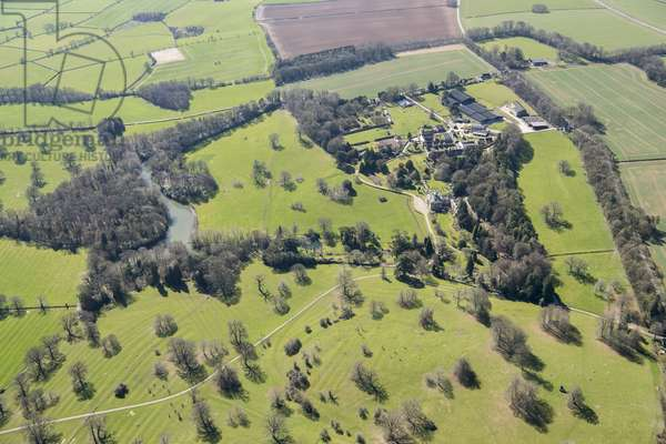 Landscape park at Sezincote, designed by Humphry Repton c.1804, Moreton in Marsh, Gloucestershire, 2018 (photo)