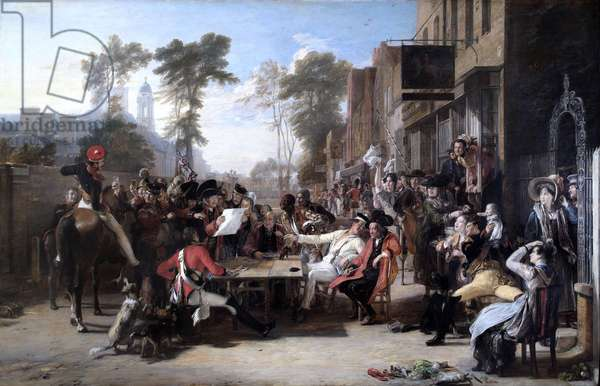 Chelsea Pensioners Reading the Waterloo Dispatch (oil on canvas)