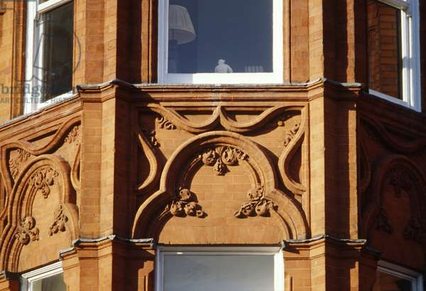 Detail of Gothic rubbed brick, built c.1879 (photo)