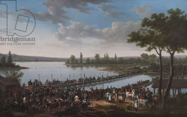 Passage Of The Danube By Napoleon Before The Battle Of Wagram (oil on canvas)