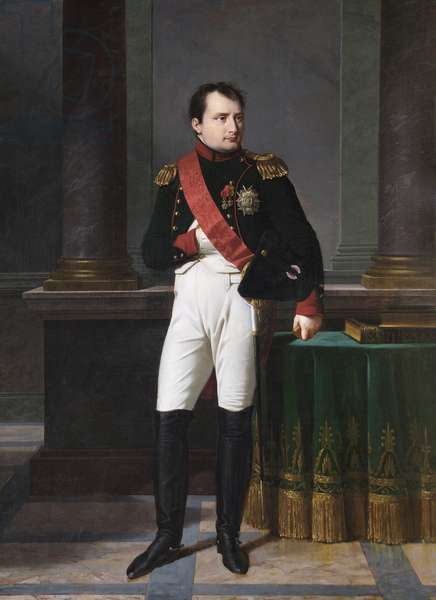 Napoleon Bonaparte, Emperor, 1812 (oil on canvas)