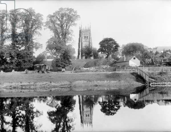 Abbey Park, Evesham, 1890 (b/w photo)