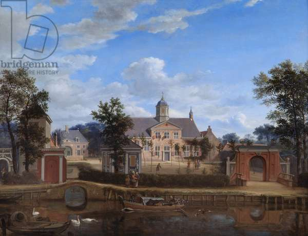 The Chateau of Goudestein, on the River Vecht, Near Maarsen, 1674 (oil on canvas)