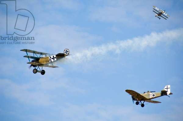 World War I aircraft re-enactment, Festival of History, Kelmarsh Hall, Northamptonshire, 2007 (photo)