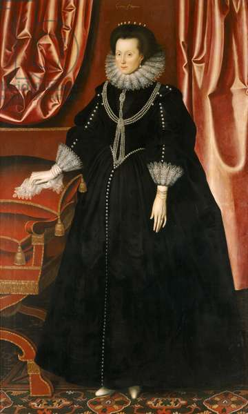 Elizabeth Drury, Countess of Exeter, c.1615 (oil on canvas)