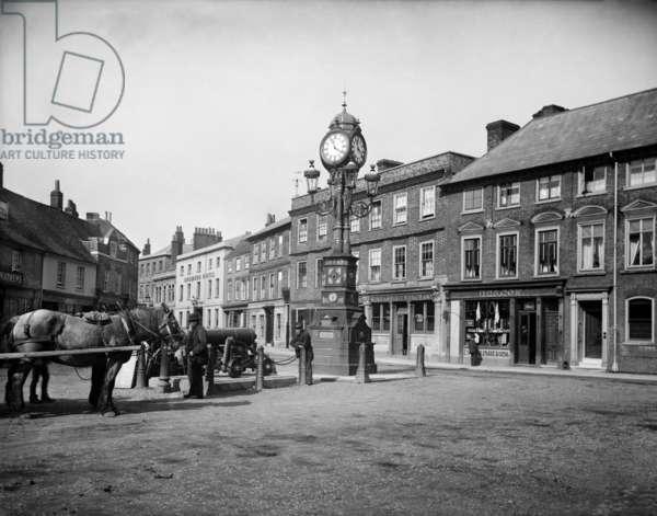 Newbury Jubilee Clock, 1890 (b/w photo)