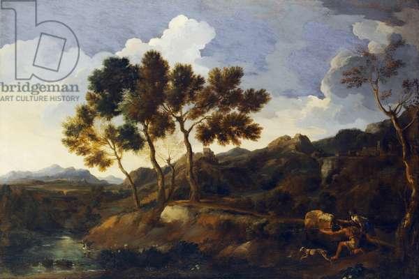 Landscape with Sportsmen c.1636-39 (oil on canvas)