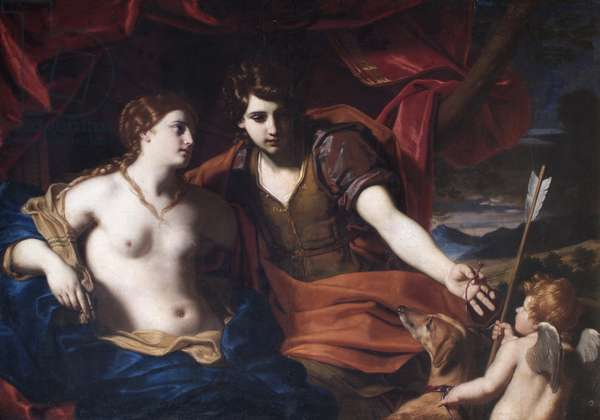 Venus and Adonis, after 1650 (oil on canvas)