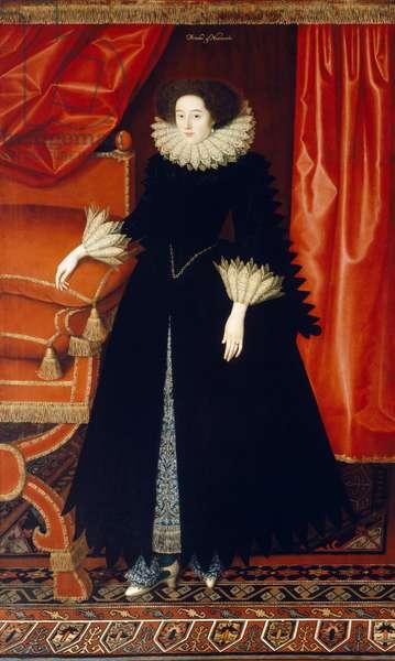 Elizabeth Bassett c.1615 (oil on canvas)