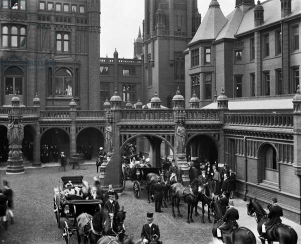 Royal opening of Birmingham General Hospital (b/w photo)