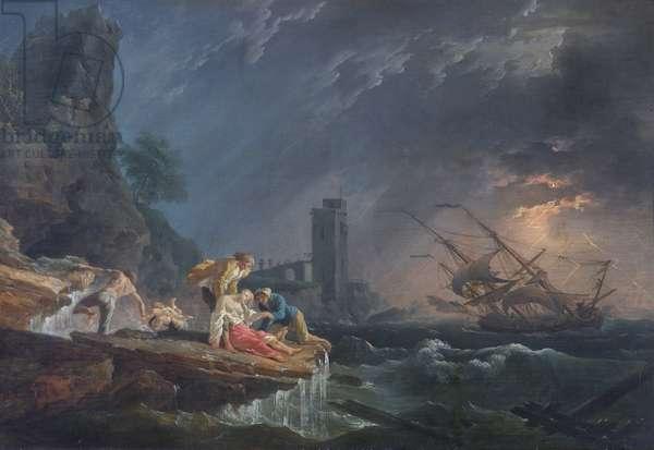 A Shipwreck, c.1760-65 (oil on canvas)