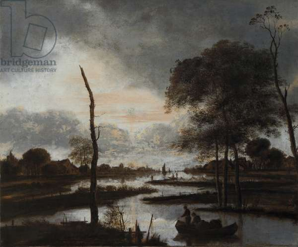 River View: Evening (oil on canvas)