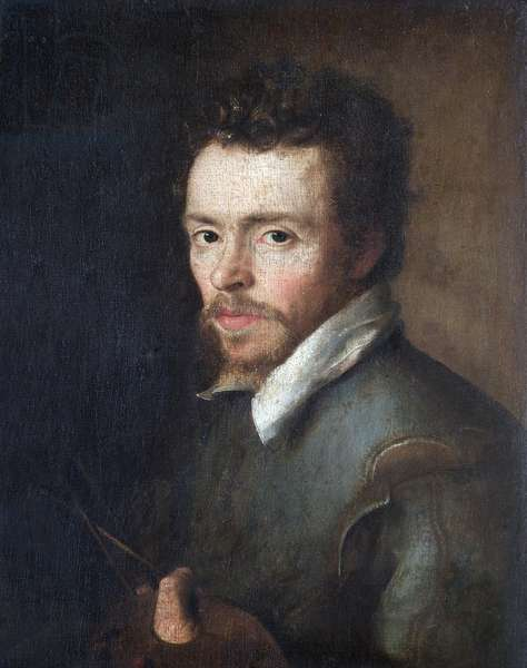Self-Portrait Of An Unknown Painter, 1596 (oil on canvas)