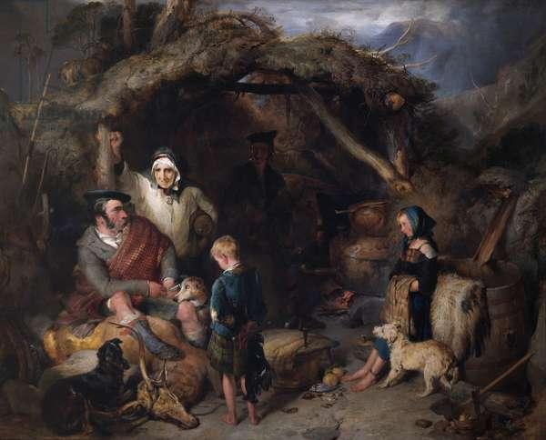 The Illicit Highland Whisky Still, c.1829 (oil on panel)
