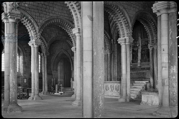 Durham Cathedral, Palace Green, Durham, County Durham, UK (b/w photo)