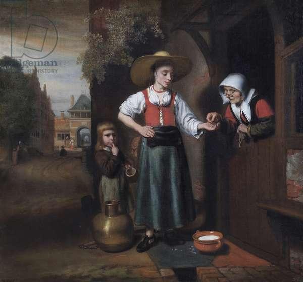 The Milkwoman, 1655-59 (oil on canvas)