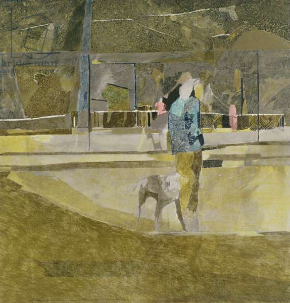 Man in a Hat, Tooting Common, 1980 (litho)