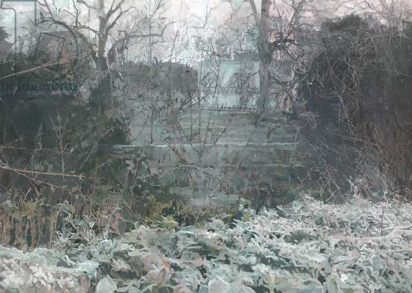 Chiswick House, 2016 (oil on panel)