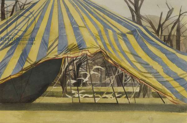 Tent and Birds, 1987 (w/c on paper)