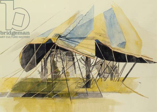 Tent, 1987 (w/c on paper)